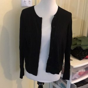 Black LOFT cardigan size large